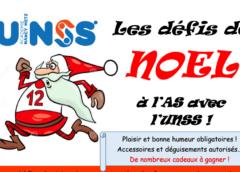 Les défis de Noel à l'AS avec l'UNSS : garder la forme et le sourire !